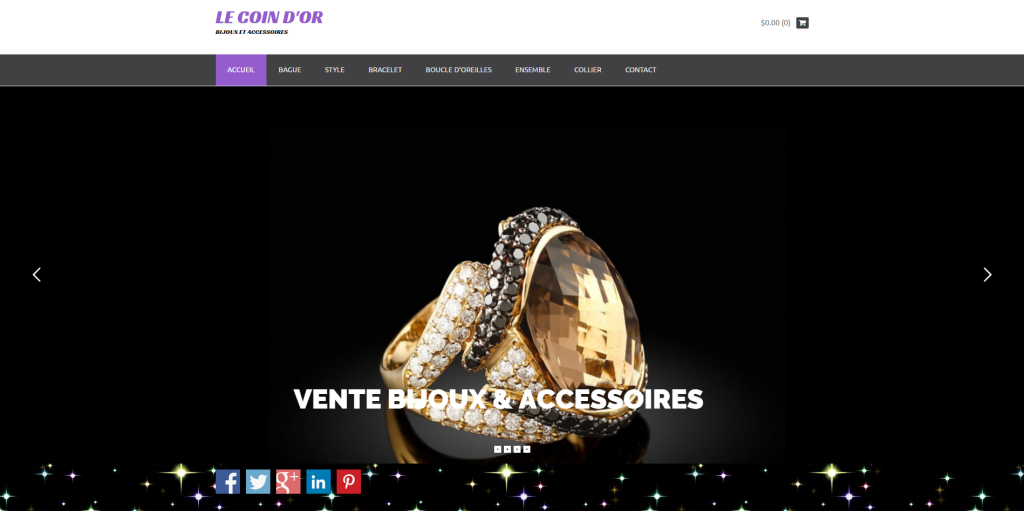 Modele site E-commerce (Bijoux) - Sites Web PENTASI
