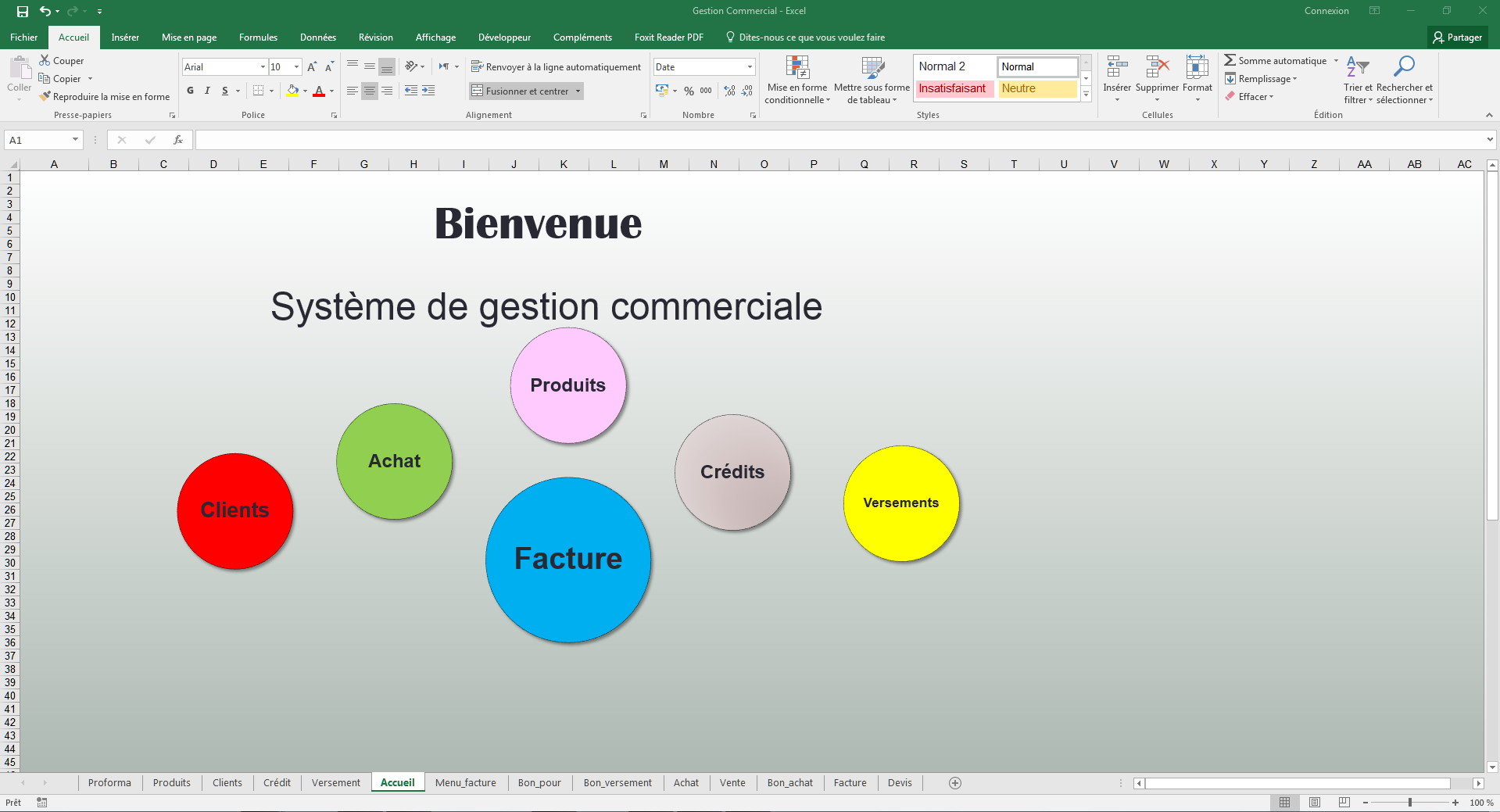 gestion commerciale stock excel